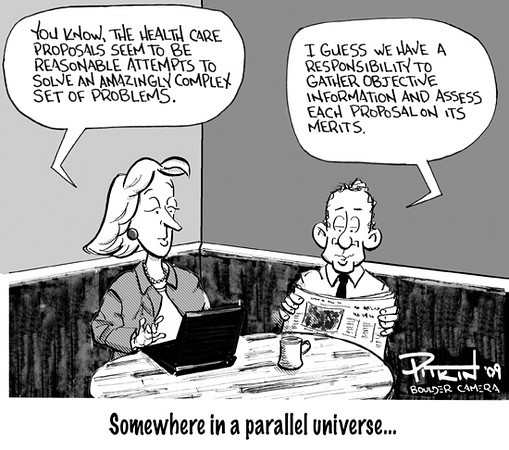 Aug. 4, 2009<br /> Hap Pitkin Editorial Cartoon<br /> Dailycamera.com Boulder CO