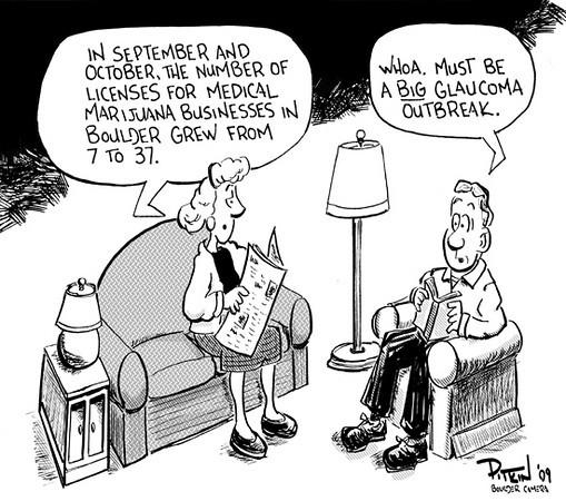 Nov. 10, 2009<br /> Hap Pitkin Editorial Cartoon<br /> Dailycamera.com Boulder, CO
