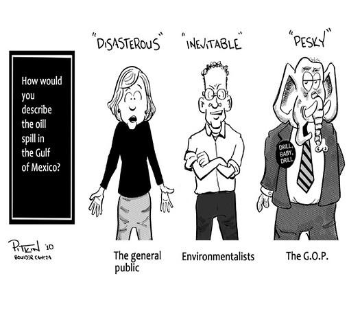 May 4, 2010<br /> Hap Pitkin editorial cartoons<br /> Dailycamera.com, Boulder, CO