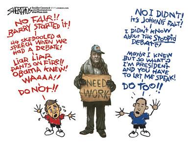 Sept. 4, 2011<br /> John Sherffius Editorial Cartoon<br /> Dailycamera.com Boulder, CO
