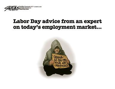Sept. 5, 2011<br /> John Sherffius Editorial Cartoon<br /> Dailycamera.com Boulder, CO