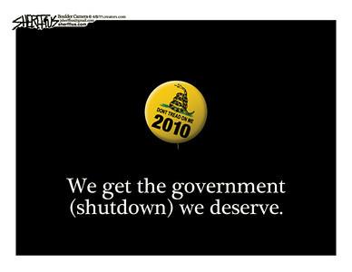 April 9, 2011<br /> John Sherffius Editorial Cartoon<br /> Dailycamera.com Boulder, CO
