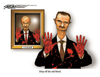 April 27, 2011<br /> John Sherffius Editorial Cartoon<br /> Dailycamera.com Boulder, CO