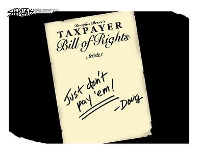 April 19, 2011<br /> John Sherffius Editorial Cartoon<br /> Dailycamera.com Boulder, CO