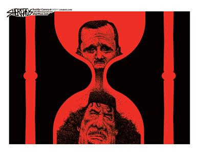 Aug. 24, 2011<br /> John Sherffius Editorial Cartoon<br /> Dailycamera.com Boulder, CO