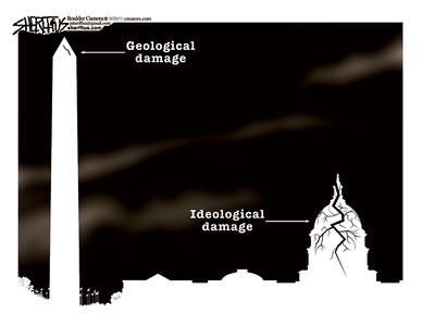 Aug. 28, 2011<br /> John Sherffius Editorial Cartoon<br /> Dailycamera.com Boulder, CO