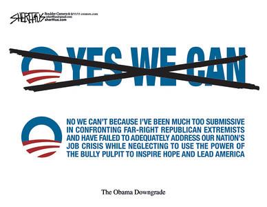 Aug. 15, 2011<br /> John Sherffius Editorial Cartoon<br /> Dailycamera.com Boulder, CO