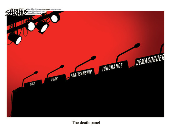 Aug. 13,2009<br /> John Sherffius Editorial Cartoon<br /> Dailycamera.com Boulder, CO