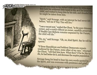 Dec. 23, 2009 <br /> John Sherffius Editorial Cartoon<br /> Dailycamera.com Boulder, CO