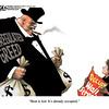 Oct. 9, 2011<br /> John Sherffius Editorial Cartoon<br /> Dailycamera.com Boulder, CO