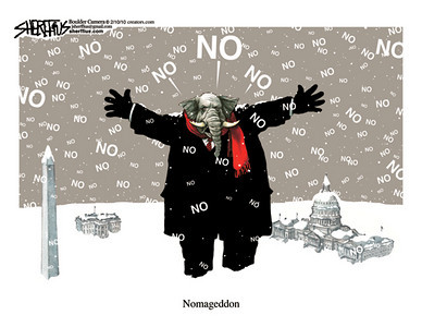 Feb. 12, 2010<br /> John Sherffius Editorial Cartoon<br /> Dailycamera.com, Boulder, CO