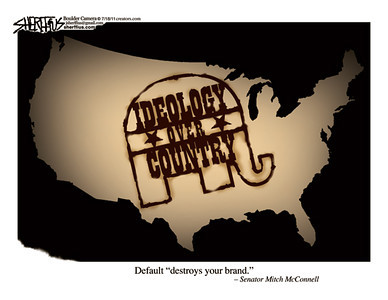 July 20, 2011<br /> John Sherffius Editorial Cartoon<br /> Dailycamera.com Boulder, CO