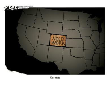March 13, 2011<br /> John Sherffius Editorial Cartoon<br /> Dailycamera.com Boulder, CO