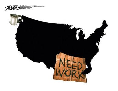 Nov. 15, 2009<br /> John Sherffius Editorial Cartoon<br /> Dailycamera.com Boulder, CO