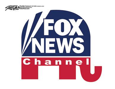Oct. 16, 2009<br /> John Sherffius Editorial Cartoon<br /> Dailycamera.com Boulder, CO<br /> Fox News Channel