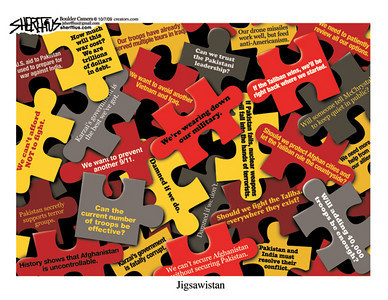 Oct. 9, 2009<br /> John Sherffius Editorial Cartoon<br /> Dailycamera.com Boulder, CO<br /> Jigsawistan