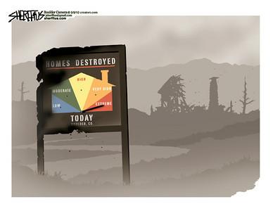 Sept. 10, 2010<br /> John Sherffius Editorial Cartoon<br /> Dailycamera.com Boulder, CO