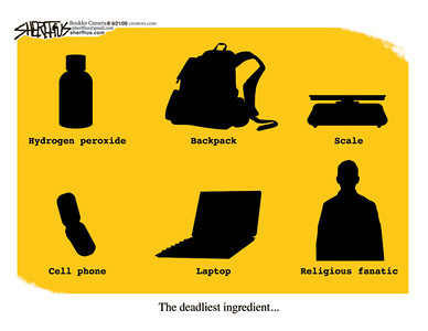 Sept. 23, 2009 John Sherffius Editorial Cartoon Dailycamera.com Boulder, CO The deadliest ingredient