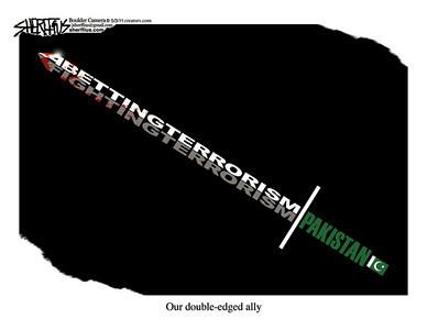 May 5, 2011<br /> John Sherffius Editorial Cartoon<br /> Dailycamera.com Boulder, CO