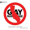 "May 27, 2009 John Sheriffus Editorial Cartoon - DailyCamera.com Boulder, CO<br /> <br /> Gay Marriage<br /> ""A right delayed is a right denied."" - Martin Luther King, Jr."