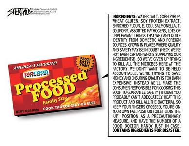 May 19, 2009 John Sheriffus Editorial Cartoon - DailyCamera.com Boulder, CO<br /> Processed food