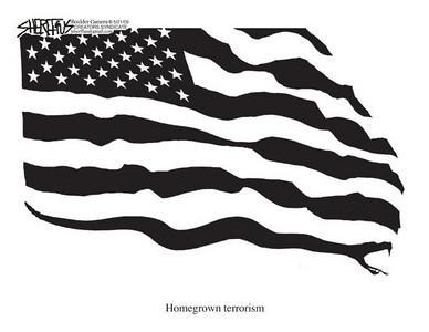 May 23, 2009 John Sheriffus Editorial Cartoon - DailyCamera.com Boulder, CO<br /> Homegrown terrorism