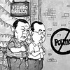 Editorial cartoon - Rodrigo Duterte and Alan Peter Cayetano visits Sto. Nino church in Cebu