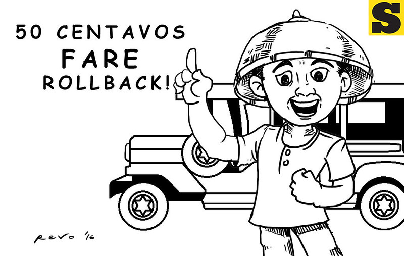 Sun.Star Bacolod editorial cartoon on fare rollback