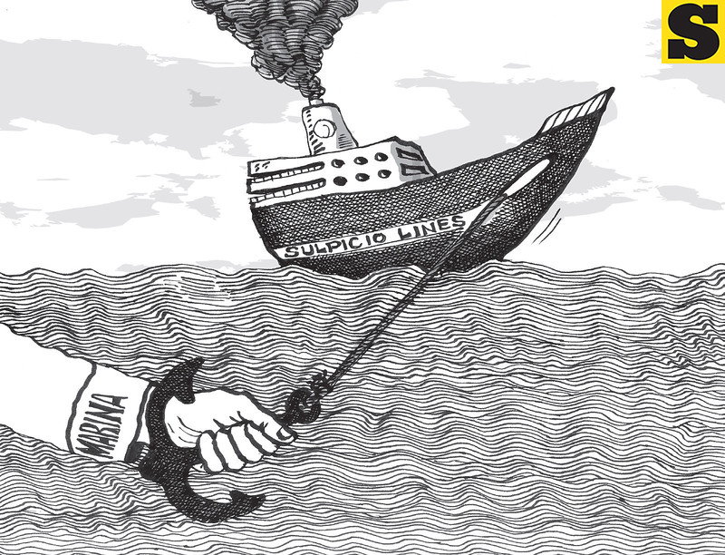 Sun.Star Cebu editorial cartoon on Marina decision against Sulpicio Lines