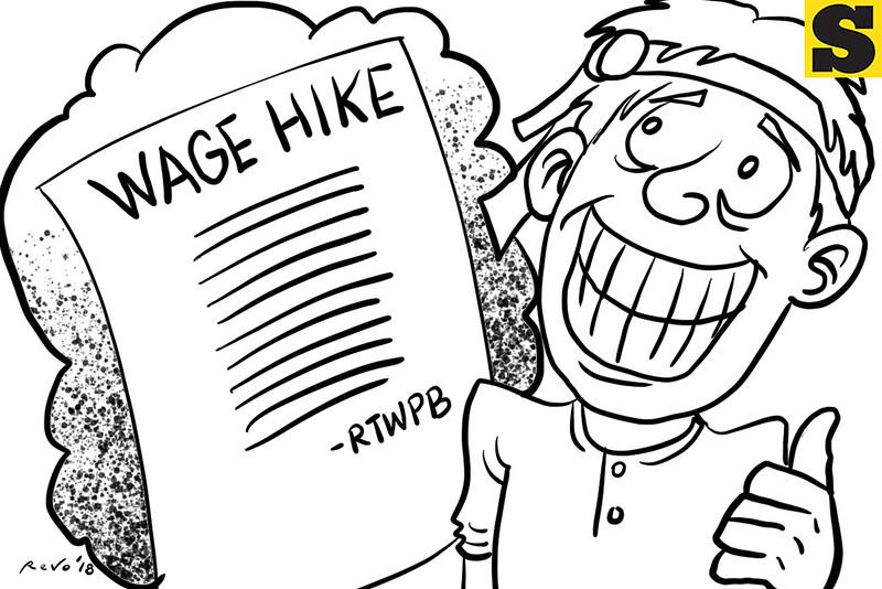 SunStar Bacolod editorial cartoon on wage increase