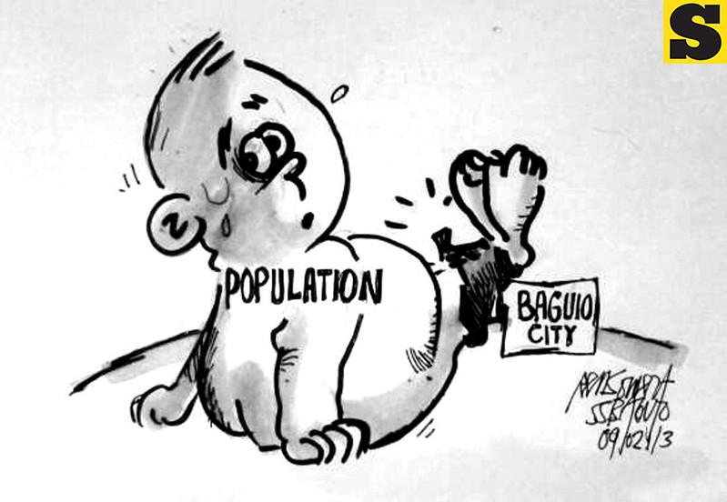 Sun.Star Baguio's editorial cartoon on population