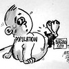 Sun.Star Baguio's editorial cartoon on population