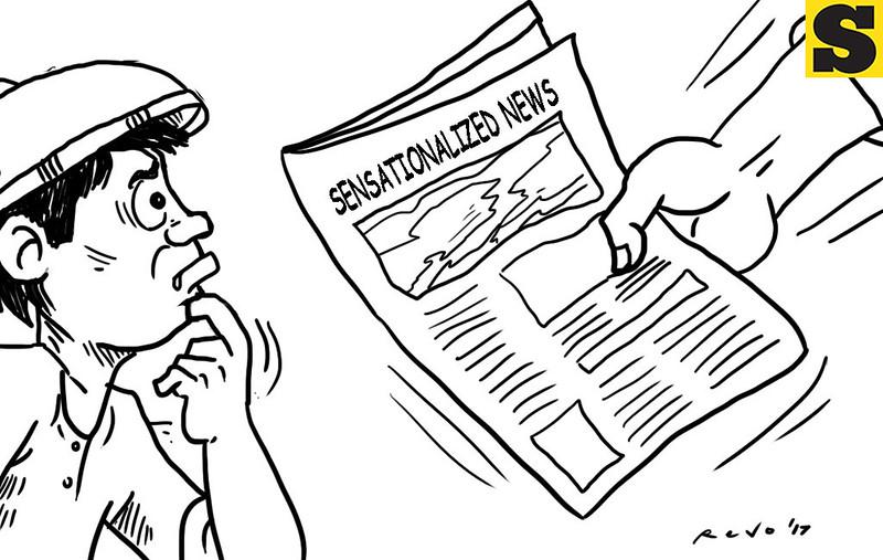 SunStar Bacolod editorial cartoon on sensationalized news