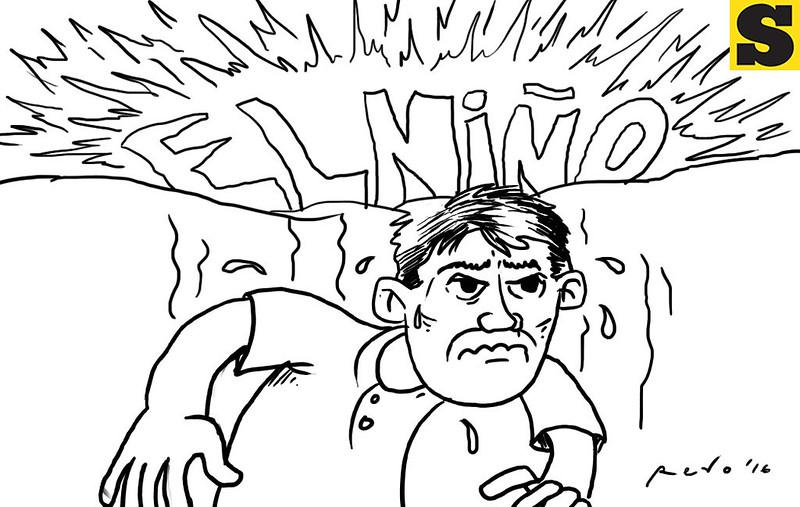 Sun.Star Bacolod's editorial cartoon on El Nino