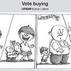 Vote buying cartoon (Cartoon Josua Cabrera of Sun.Star Cebu)