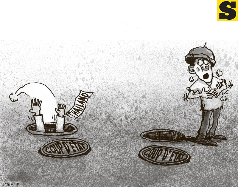 Sun.Star Cebu's editorial cartoon on Thailand power grabbing
