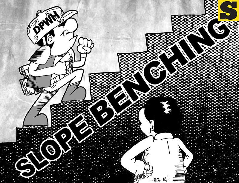 Sun.Star Cebu editorial cartoon on slope benching