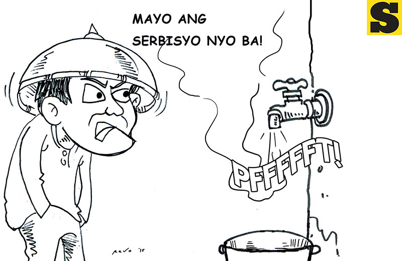 No water - Sun.Star Bacolod editorial cartoon