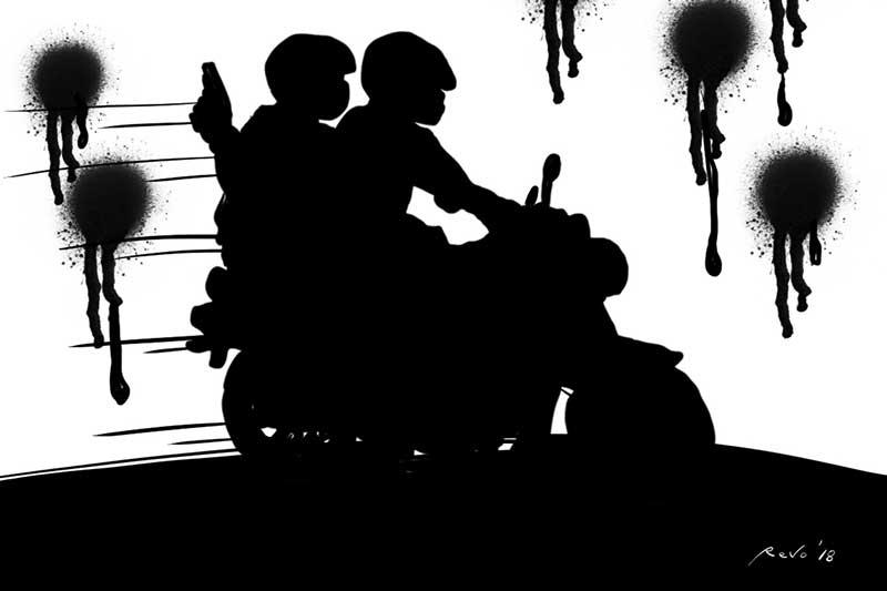 SunStar Bacolod's editorial cartoon on riding in tandem gunmen
