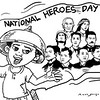 SunStar Bacolod editorial cartoon on Philippine National Heroes' Day
