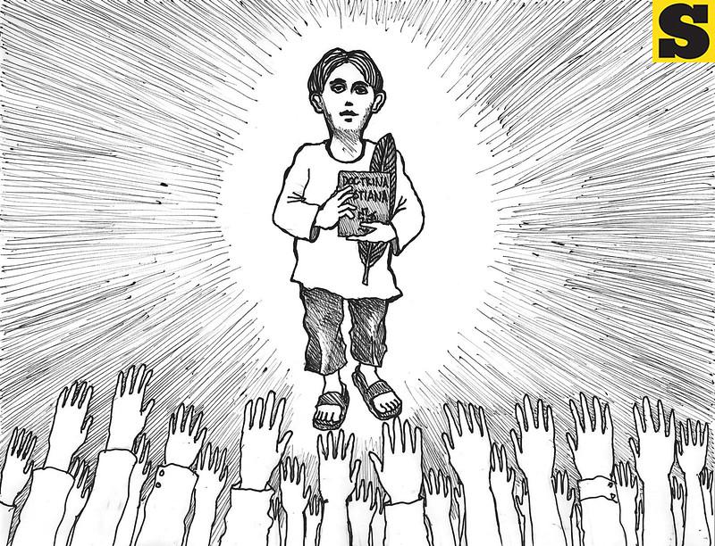 Pedro Calungsod. Sun.Star Cebu editorial cartoon for October 20, 2012