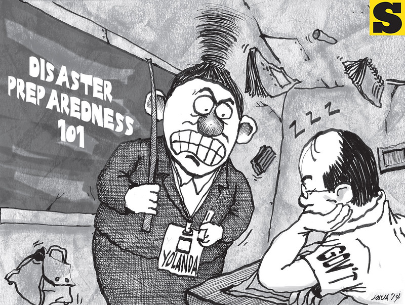 Sun.Star Cebu editorial cartoon on disaster preparedness