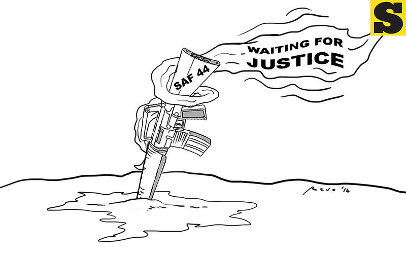 Sun.Star Bacolod editorial cartoon on SAF 44