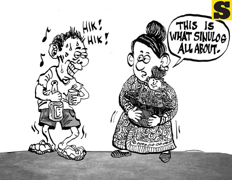 Sun.Star Cebu editorial cartoon in Sinulog and Fiesta Senor