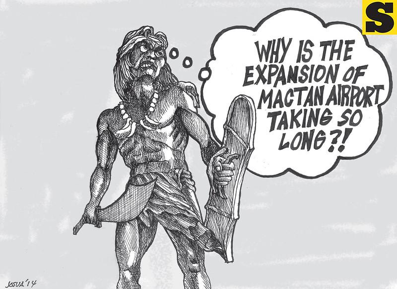 Editorial cartoon on Mactan-Cebu airport expansion