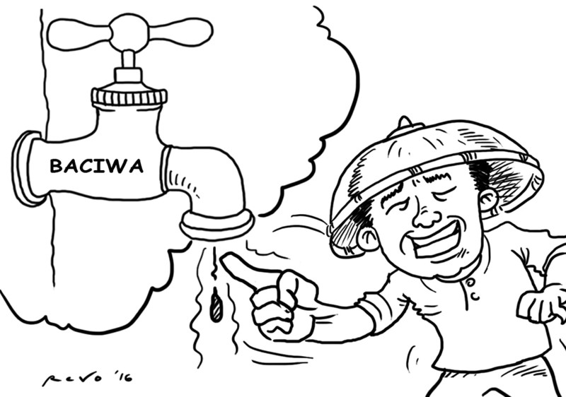 Sun.Star Bacolod editorial cartoon on no water coming out from Baciwa