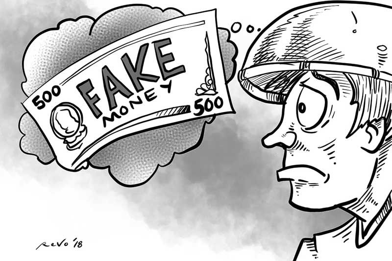 SunStar Bacolod editorial cartoon on fake money