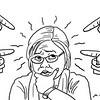 SunStar Bacolod editorial cartoon on witnesses pointing at Senator Leila de Lima