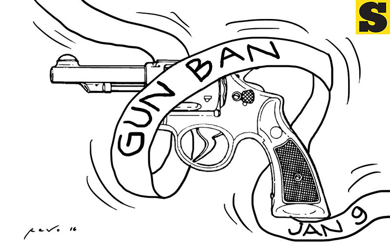 Sun.Star Bacolod editorial cartoon on election gun ban