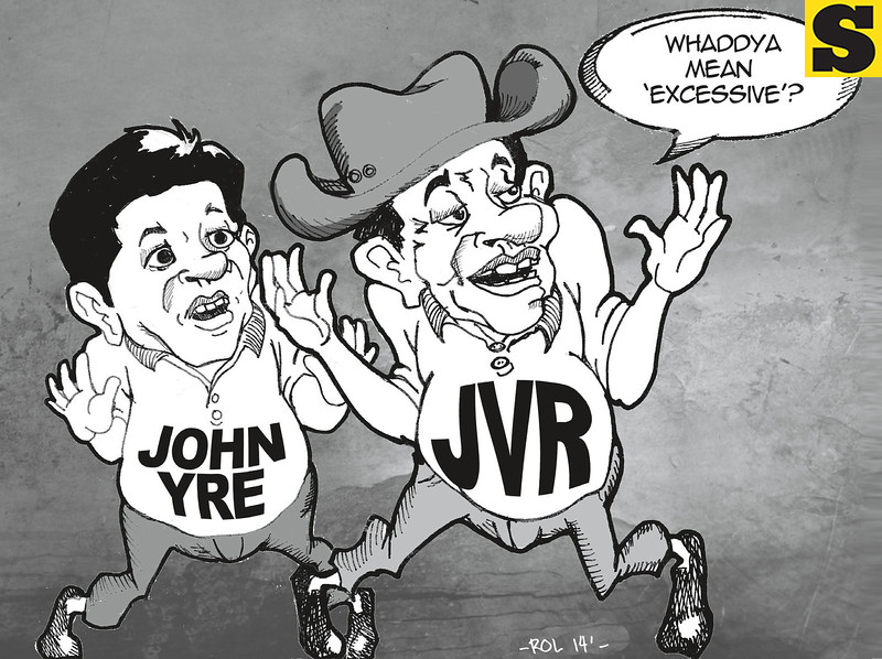 Sun.Star Cebu editorial cartoon - Going after JVR